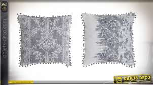 COUSSIN POLYESTER 45X11X45 510 GR, POMPON 2 MOD.