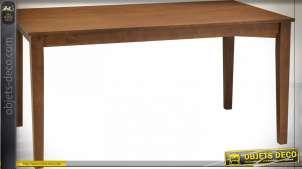 TABLE SET 4 CHÊNE PU 120X75X74 MARRON FONCÉ