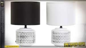 LAMPE DE TABLE CÉRAMIQUE POLYESTER 20X20X30 2 MOD.