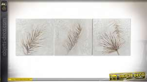 TABLEAU TOILE PIN 80X3,5X80 FEUILLE 3 MOD.