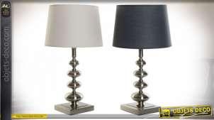LAMPE DE TABLE MÉTAL TOILE 30X30X55 2 MOD.