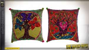 COUSSIN POLYESTER 40X7X40 450 GR, ARBRE 2 MOD.