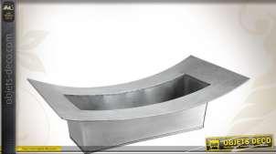 Bac à fleurs design en zinc titanium