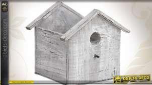 Cache-pot en forme de maisonnette en bois