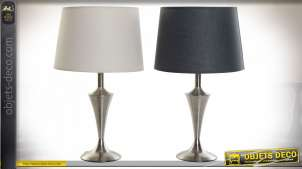 LAMPE DE TABLE MÉTAL POLYESTER 30X30X51 2 MOD.