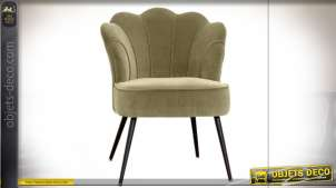 CHAISE POLYESTER MDF 67X67X83 VERT MOUSSE