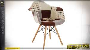 CHAISE POLYESTER PIN 60,5X64X83 45,5 PATCHWORK