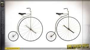Série de deux décorations murales inspiration vélo Peugeot Grand-Bi