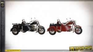 VEHICULE DÉCORATION MÉTAL 28X19X15 MOTO SIDECAR 2