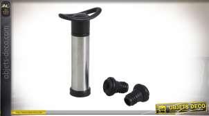 Pompe à vide d'air pour une meilleure conservation du vin, avec 2 bouchons en plastique spécifiques