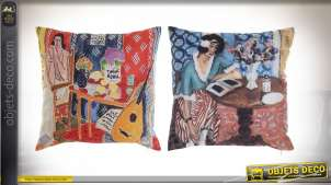 COUSSIN POLYESTER 40X10X40 350 GR, 2 MOD.