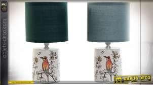 LAMPE DE TABLE GRÈS COTON 14X14X27,5 E14 2 MOD.
