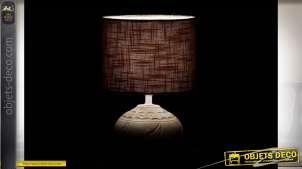 LAMPE DE TABLE GRÈS LIN 18X18X27 FEUILLE 2 MOD.