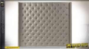Tête de lit grise capitonnée de style moderne contemporain, 198cm