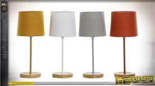 LAMPE DE TABLE BOIS POLYESTER 15X15X36 4 MOD.