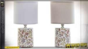 LAMPE DE TABLE GRÈS COTON 14X14X26,5 E14 2 MOD.