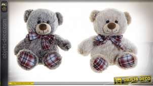 PELUCHE POLYESTER 30X24X32 30CM OURS 2 MOD.