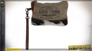 TROUSSE DE TOILETTE CUIR 20X2X13 VACHE DE NEW YORK
