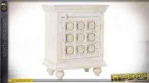 TABLE AUXILIAIRE BOIS 53X35X68 BLANC