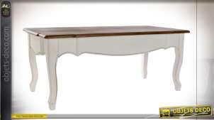 TABLE BASSE PAULOWNIA 120X60X50 BLANC