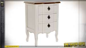 TABLE DE CHEVET PAULOWNIA 48X36X65 BLANC