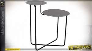 TABLE AUXILIAIRE MÉTAL 57X35X60 NOIR