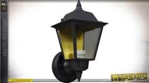 Lanterne murale extérieure noire en aluminium style rétro 26 cm