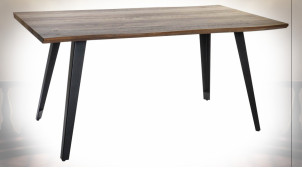 TABLE MDF MÉTAL 160X90X76 MARRON