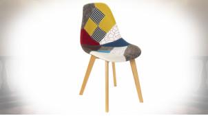 Chaise moderne à motifs patchwork multicolores, 83cm