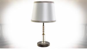 Lampe à poser moderne en verre et métal doré ambiance chic, 50cm