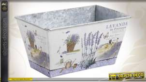 Bac jardinière en zinc avec motifs provençaux