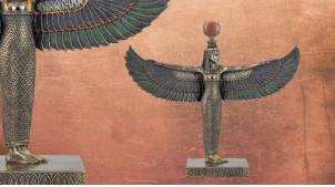 Statuette de Isis, la déesse mère guérisseuse, en résine finition vieux bronze, ambiance ancienne égypte, 25cm