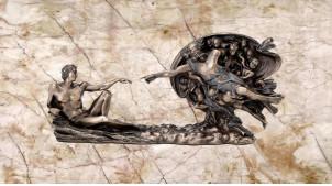 Statuette de la Génèse en résine, représentation de la scène de la création, finition bronze effet ancien, collection Mythologie Grecque, 26cm