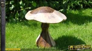 Sculpture en bois d'un champignon (36 cm)