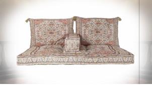 Ensemble de coussins pour canapé en coton très coloré ambiance orientale, 155cm