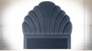 Tête de lit en polyester finition bleu marine de style oriental, 162cm