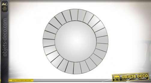Miroir vénitien rond à facettes style design