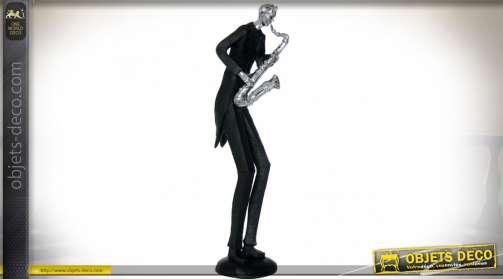Grande statuette sur le thème de la musique : le saxophoniste