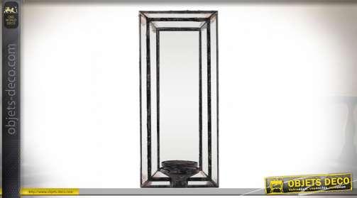 Miroir applique murale porte-bougie de style vénitien aspect vieilli