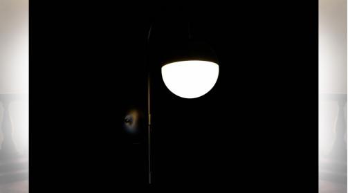 LAMPE APPLIQUE MÉTAL VERRE 15X31X48 BALLE NOIR