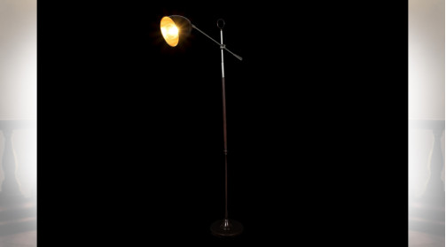 LAMPADAIRE MÉTAL 56X25X153 MARRON