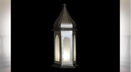 LAMPADAIRE FER VERRE 38X33X81 DORÉ