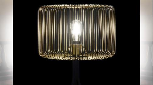 LAMPADAIRE MÉTAL 58X58X171 NOIR