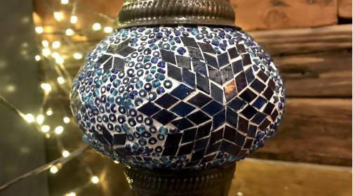 Lampe originale style luminaire turc, colorée et chic, lumière d'ambiance