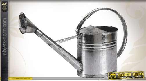 Arrosoir de style ancien en zinc, capacité 10 litres