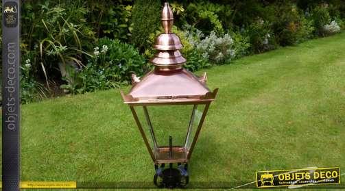 Haut de lanterne style rétro finition cuivre à électrifier