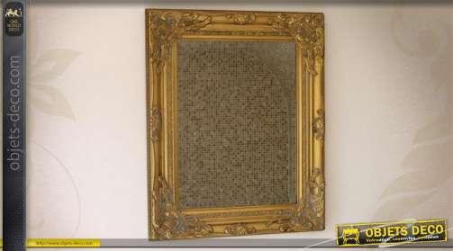 Miroir de style ancien finition vieil or 53 cm