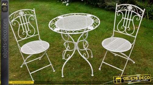 Meubles de jardin mobilier d 39 ext rieur - Couleur salon de jardin en fer ...