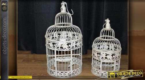 0L'ensemble de deux cages (1 grande + 1 petite)