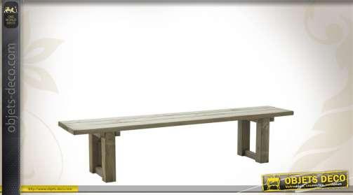Grand banc en bois d'épicéa massif pour intérieur ou extérieur.